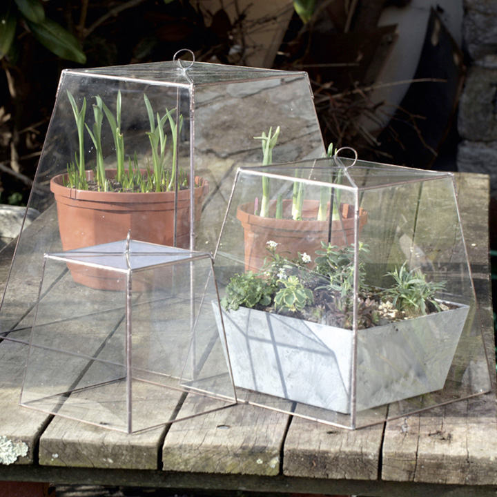 Hand-crafted Victorian-style Copper and Glass Cloches