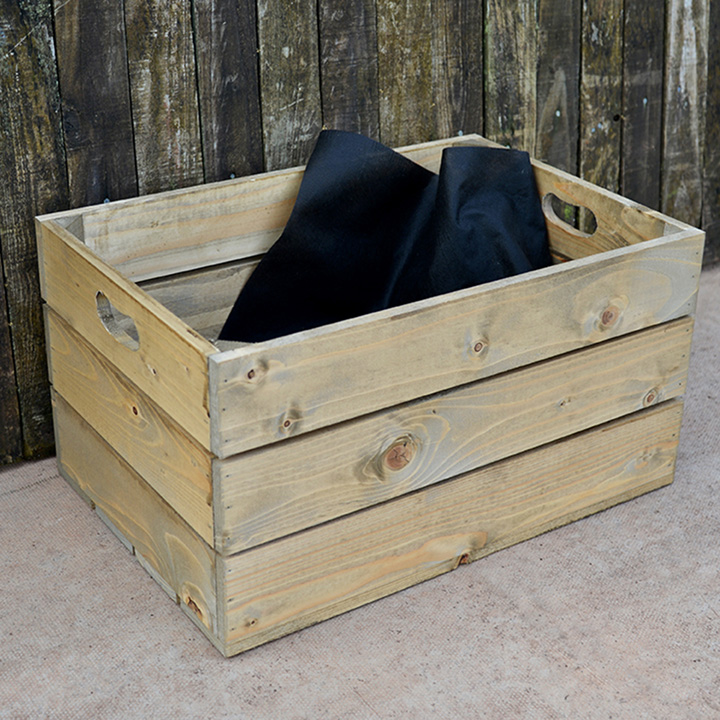 Personalised Empty Crate 3 Slats - 53 x 36 x 28cm