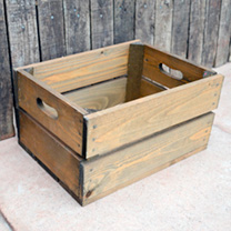 Personalised Crate 2 Slats - 26.5 x 36 x 19cm