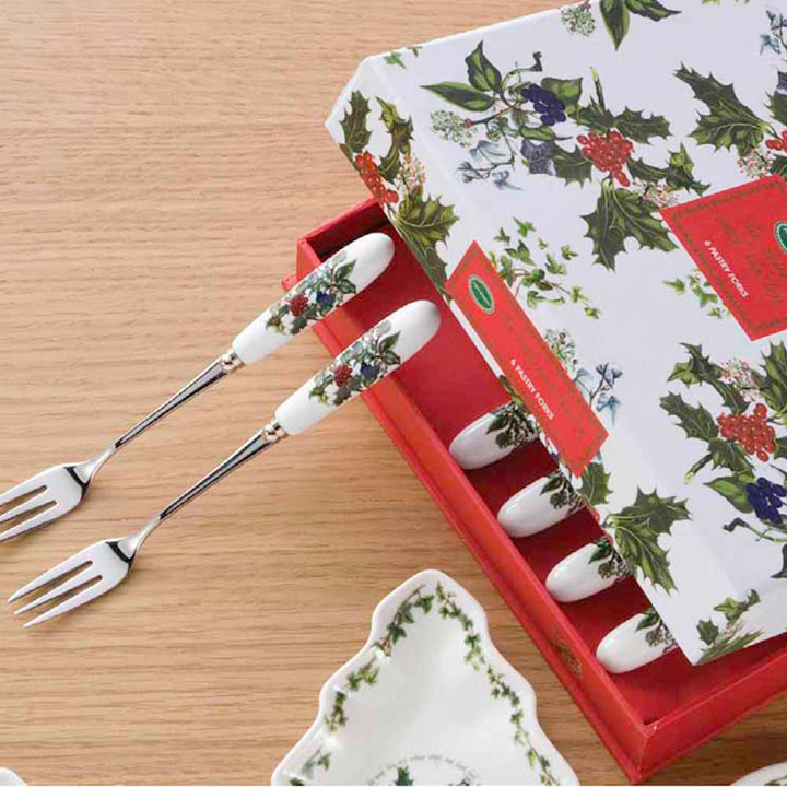 Holly & Ivy Pastry Forks