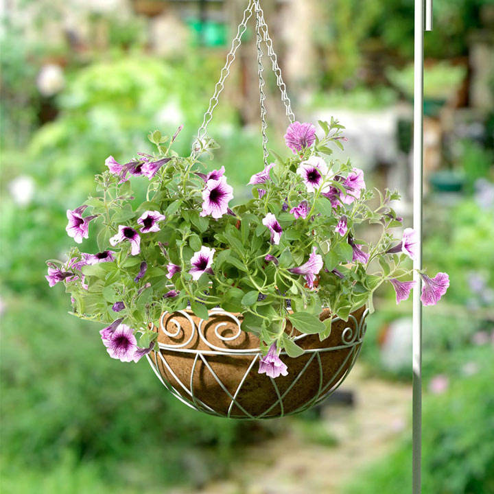 French Country Scroll Hanging Basket