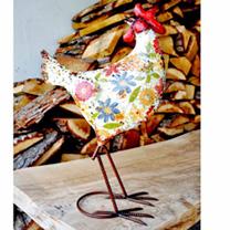 Decorative Hen - White