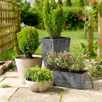 Patio Planters  Trough Black