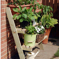 3 Tier Lean-to Plant Stand
