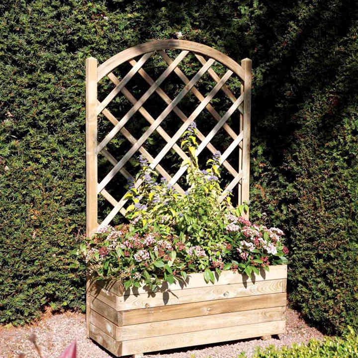 Rectangular Planter & Lattice