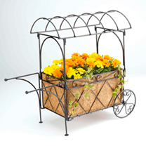 Metal Market Cart Planter