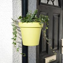 Drainpipe Flowerpot - Yellow