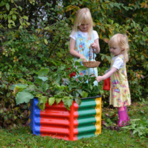 Kids 6-in-1 Modular Metal Raised Bed
