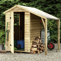 Overlap Shed with Lean-to 6' x 4'
