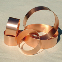 Copper Slug Rings Large