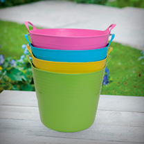 Multi-Coloured Trugs - 27 Litres