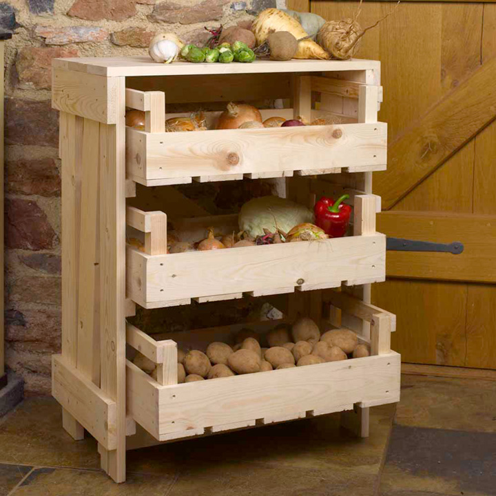 Vegetable storage rack.