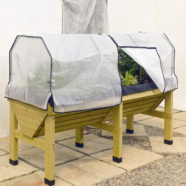 Vegtrug 1m frame amp polyethylene cover dobies