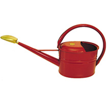 Haws 5ltr Slim Metal Watering Can - Burgundy