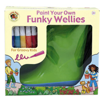 Paint Your Own Wellies  BOYS Large Size 1213