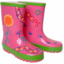 Paint Your Own Wellies  GIRLS Large Size 1213