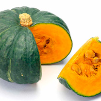 Origin: Japan. You won't be able to resist a Kabocha squash (Japanese winter pumpkin), not only because of their cute size (immediately you'll want to