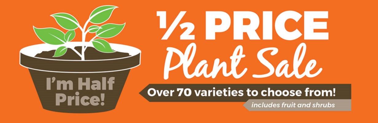 Half Price Plant Sale