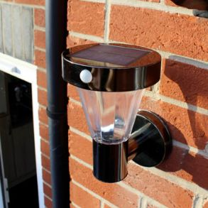 Black Nickel Solar Wall Light - Up To Half Price
