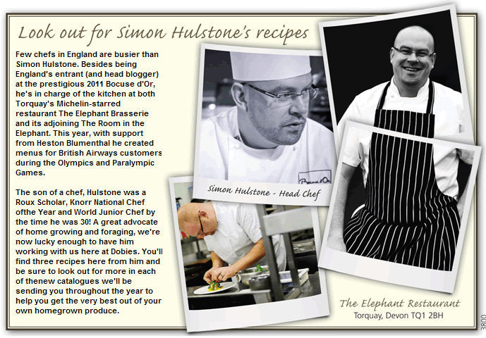 Look out for Simon Hulstone's recipes