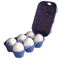 Image of Egg Boxes - Blue 1 Dozen