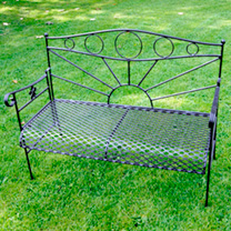 Garden Bench - Black
