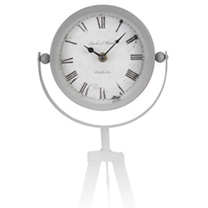 Tripod Table Clock - White
