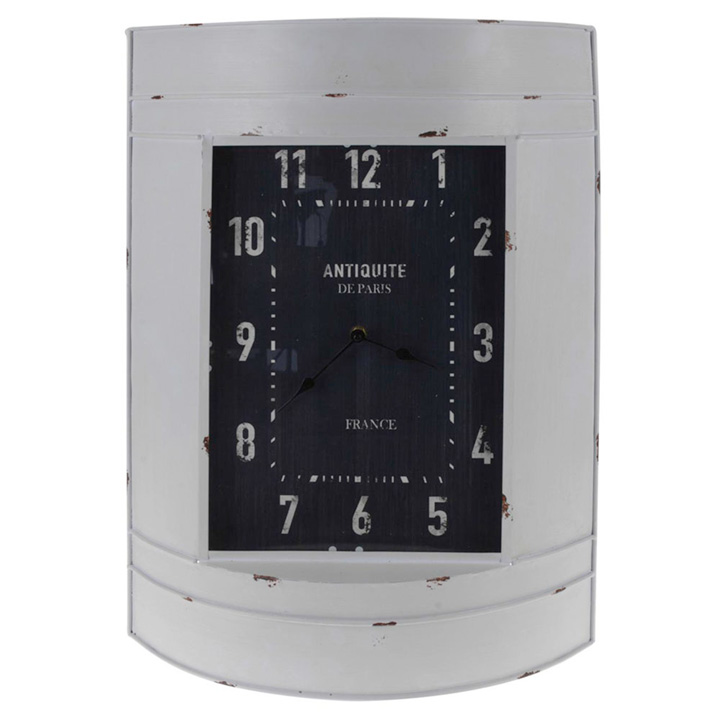 Metal Wall Clock - White