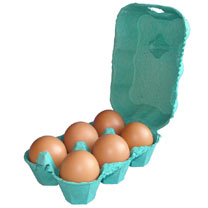 Image of Egg Boxes - Green