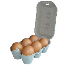 Egg Boxes - Grey  Dozen