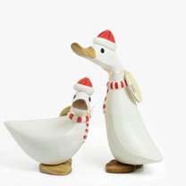 Image of Red and White Ducks - Duckling and Ducky