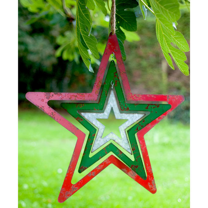Large Metal Hanging Star