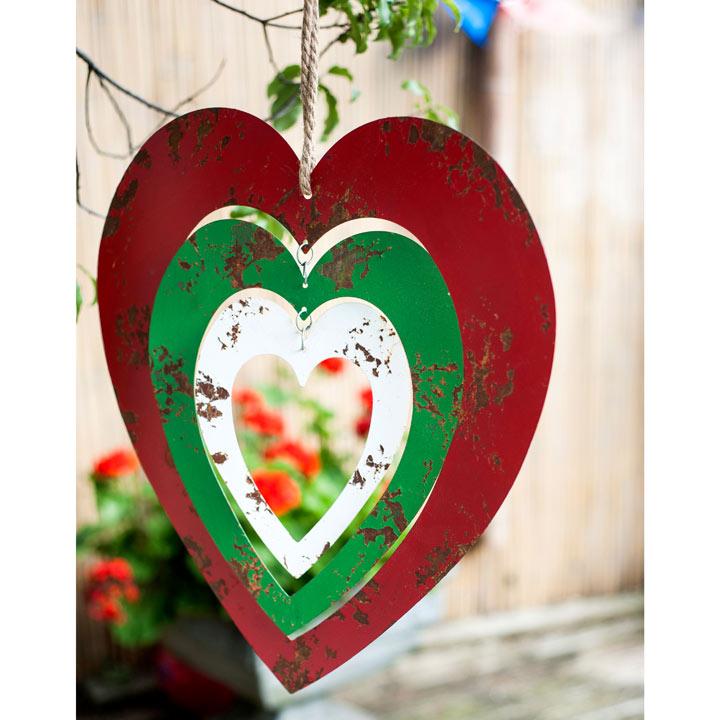 Large Metal Hanging Heart