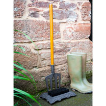 Boot Scraper and Brush with Fork Handle