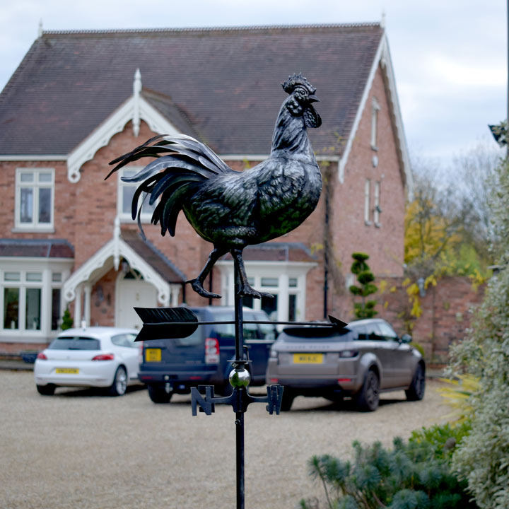 3D Weathervane with Garden Stake - Rooster