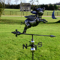 3D Weathervane with Garden Stake - Pig