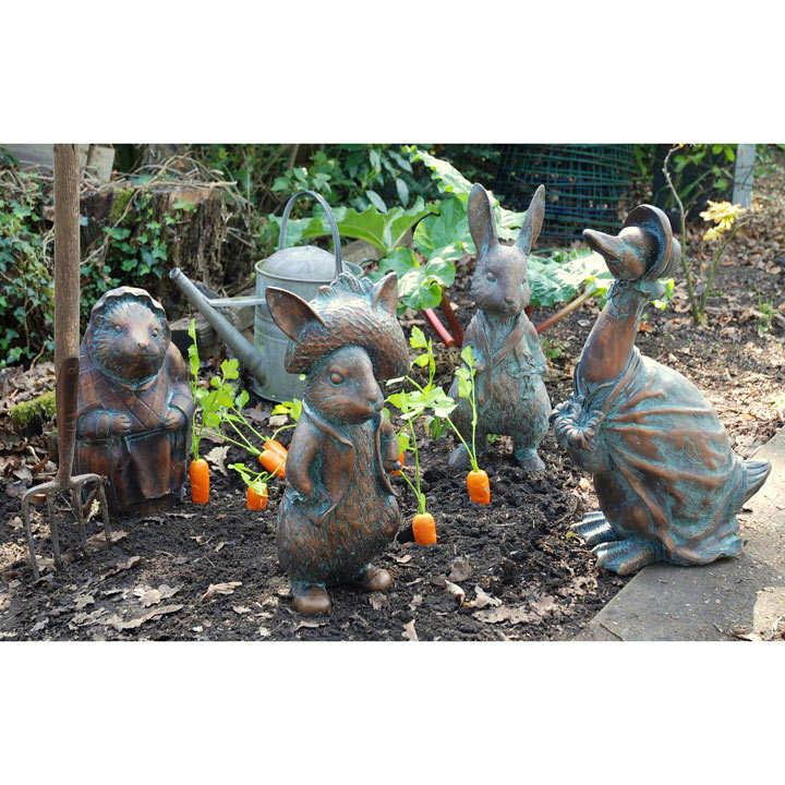 Beatrix Potter Garden Figures