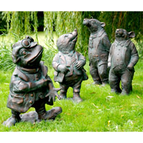 Wind in the Willows Garden Figures