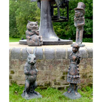 Alice in Wonderland Garden Figures