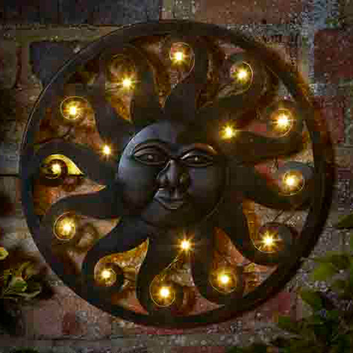 Celestial Sun Wall Art Lighting Garden D 233 Cor Gifts