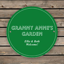 Personalised Green House/Garden Sign