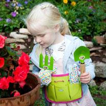 Image of Personalised Children's Gardening Tool Kit - Pink