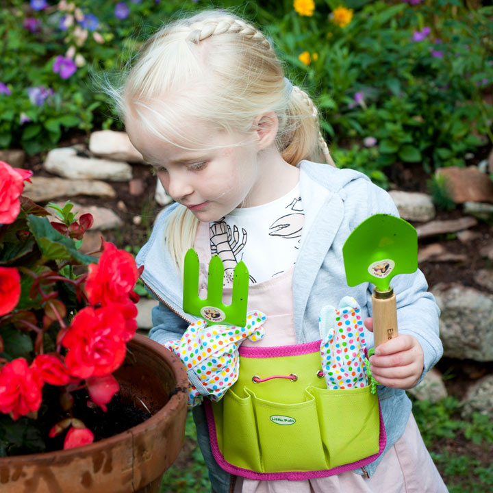 Personalised Children's Gardening Tool Kit - Pink