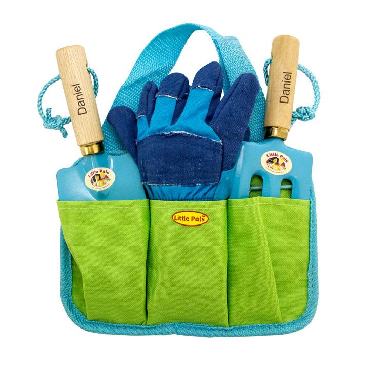 Personalised Children's Gardening Tool Kit - Blue