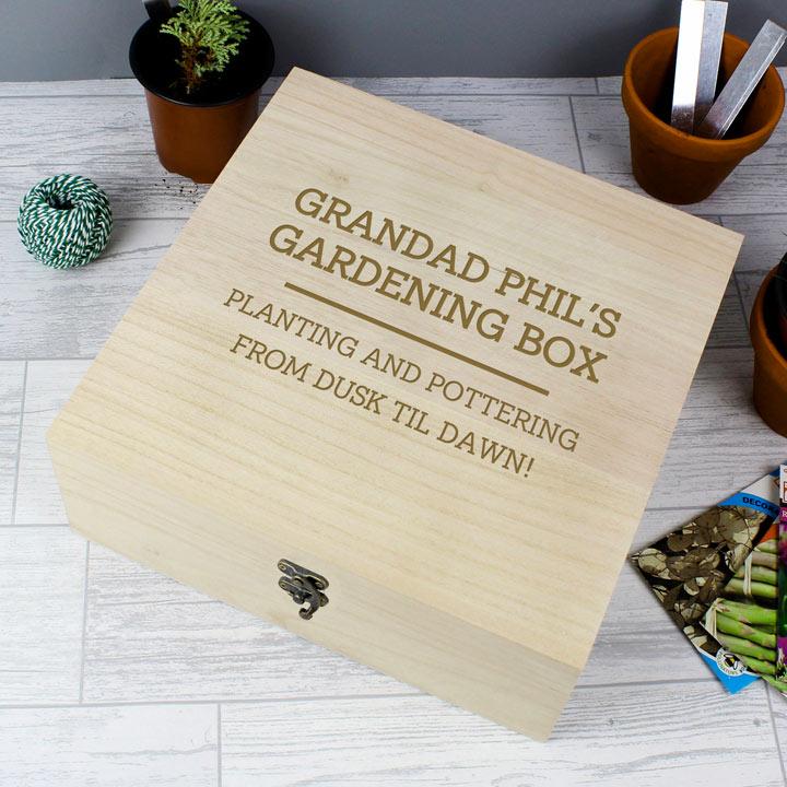 Personalised Large Wooden Keepsake Box