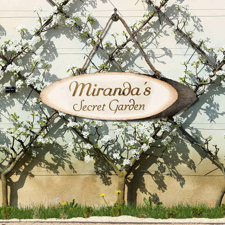 Personalised '... ' Secret Garden Sign