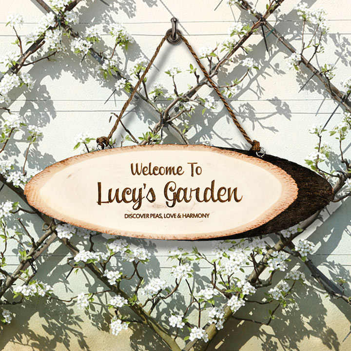 Personalised Welcome To My Garden Sign View All Gifts All Gift