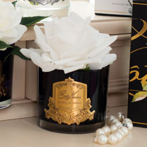 White Rose (Black Vase)