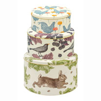 Rabbit & Cabbage Storage Tin Trio