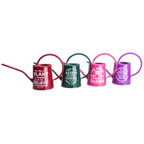 Gardening Quote Decorative Watering Can - Red
